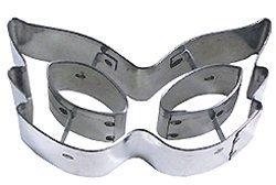 R & M R&M Cookie Cutter, Mardi Gras Mask, 4-Inch, Silver