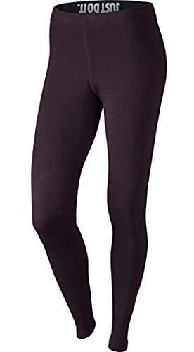 Nike Leg-A-See Logo Women's Athletic Casual Leggings Port Wine/Red 806927-652 (Size M)