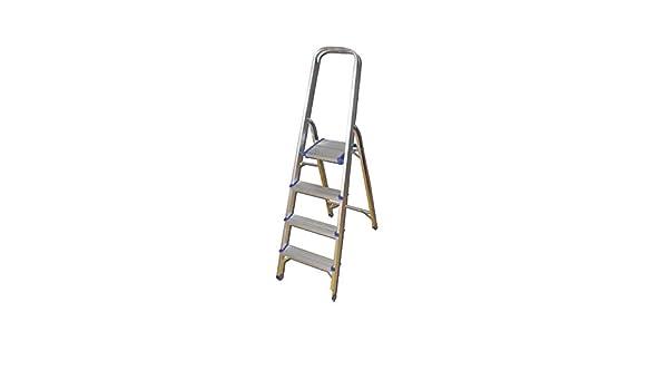 JBM 50517 Escalera de Aluminio con 4 Pelda/ños