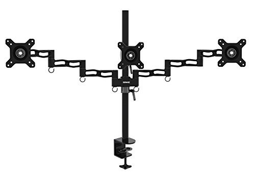 | Die Cast Aluminium Tilt and Swivel Duronic DM352 //BK Dual PC Monitor Arm Stand Desk Mount Screen Bracket Clamp Double // Twin Tilt /±15/°| Swivel 180/°| Rotate 360/° LCD LED