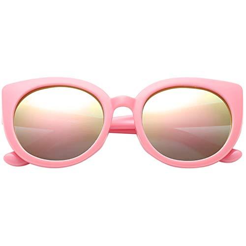 Polarspex Girls Elastic Cateye Kids Toddler Polarized Sunglasses - BPA Free (Princess Pink   Pink Quartz)