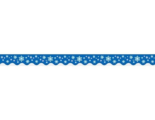 (Teacher Created Resources Snowflakes Border Trim, Multi Color)