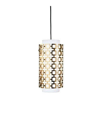 Robert Abbey 663 Mini Pendants with Frosted White Cased Glass Shades, Antique Natural Brass (Antique Natural Brass Finish)