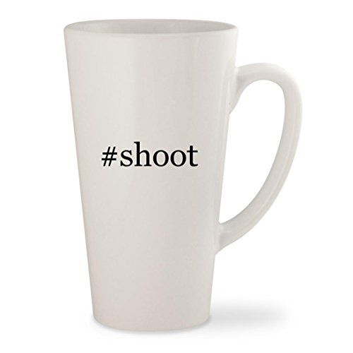 Virginia Tech Rocks Glass - #shoot - White Hashtag 17oz Ceramic Latte Mug Cup