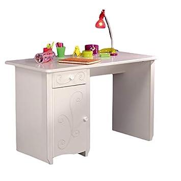 Kinderschreibtisch weiß holz  Schreibtisch weiß B 120 cm MDF Holz Kinderzimmer Jugendzimmer PC  Computertisch Kinderschreibtisch Mädchenschreibtisch