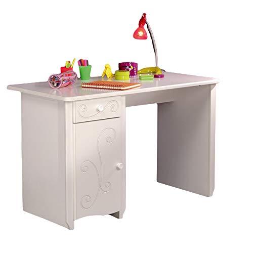 Escritorio Blanco PC Ordenador Mesa de madera MDF IDIMEX mesa niña ...