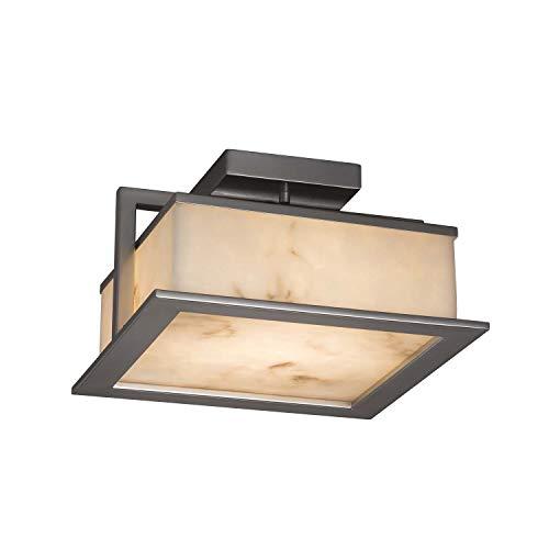 - Justice Design Group Lighting FAL-7517W-NCKL Laguna Flush-Mount, 12