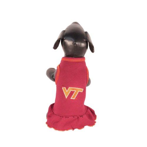 NCAA Virginia Tech Hokies Cheerleader Dog Dress (Team Color, Small), My Pet Supplies
