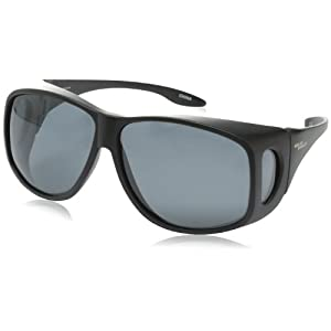 Solar Shield Fits Over Sunglasses Classic Aspen Aviator (XL) Blk/Gry