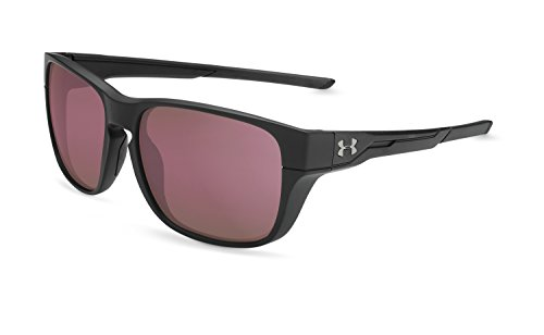 Under Armour UA Pulse Wayfarer Sunglasses, UA Pulse Satin Black / Black / Golf, 57 mm by Under Armour