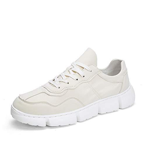 Beige 43 EU YI-WAN Décontracté Athletic paniers pour Hommes Savourless de plein air en marchant Chaussures à Lacets en Cuir Semi-synthétique Strong Antislip élastique Confortable (Couleur   Beige, Taille   43 EU)