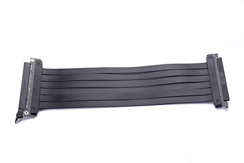 Phanteks PH-CBRS_FL30 – 300mm Pci-E X16 Riser Cable 180 Degree Adapter, Slim Design, Emi Shielded, Compatible with Enthoo Elite Chassis