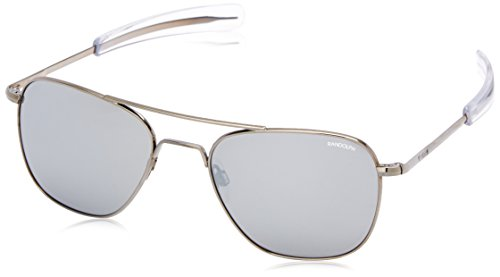 Randolph Aviator AF5R663 Square Sunglasses, Gun Metal, 55 - Prescription Sunglasses Randolph