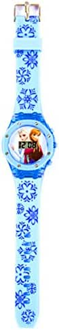 Disney Frozen Anna / Elsa Glitter Case Watch Blue