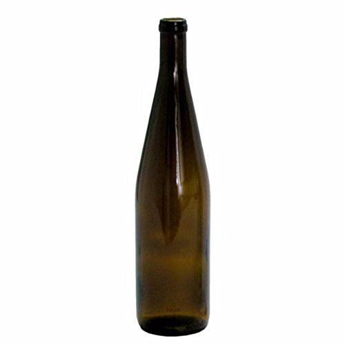 NorthernBrewer 750 ml Amber Glass Hock Bottles, 12per Case ()