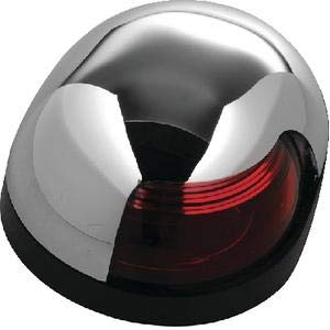 Attwood 3153R7 QUASAR SIDE LIGHT/SIDELIGHT RED LENS CHR CVR