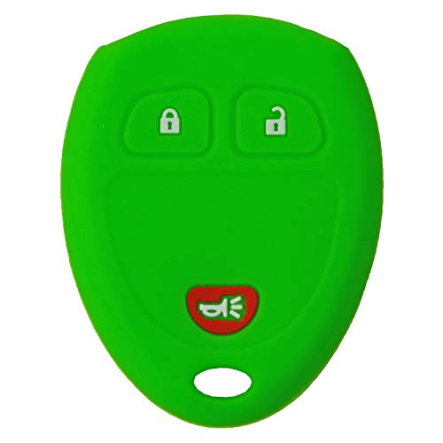 (QualityKeylessPlus Protective Silicone Rubber Keyless Entry Remote Fob Case Skin Cover for Select GM 3 Button Remotes FCC ID: KOBGT04A / OUC60221 / OUC60270)