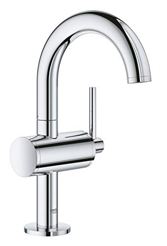 Wideset Bathroom Faucet Finish - GROHE 23831003 Atrio Single-Handle Bathroom Faucet M-Size, Starlight Chrome
