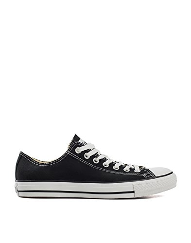 Converse Men's All Star Canvas Ox Black Size EU 44 fabric. inside of fabric. rubber outsole.