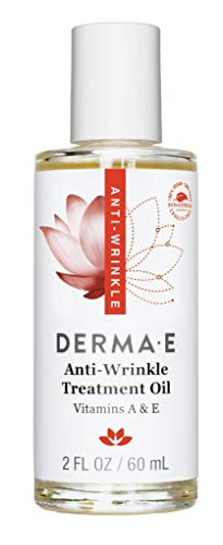 (DERMA E Anti-Wrinkle Treatment Oil with Vitamin A and Vitamin E, Fragrance-Free Keep Youthful Skin, Nourishes Skin)