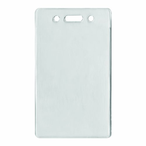 ADVANTUS Proximity Badge Holder, Vertical, 2-3/8 x 4-3/8' Insert Size, Clear, 50 per Pack (75451)