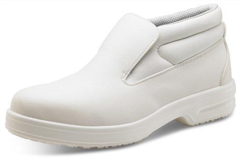 Haga clic Slip-On Chukka Boot Blanco, 5, blanco, 1