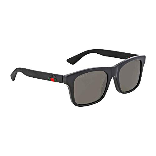 Gucci GG0008S Sunglasses 002 Black / Grey Polarized Lens 53mm