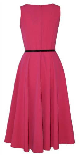 Classic 50 's Audrey Hepburn Vintage Full Circle Swing robe rose