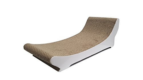 clean kitty chaise lounge corrugated cat scratcher with