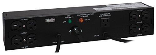 Tripp Lite Hot-Swap PDU, 15A, 8 Outlets (5-15R), 120V, 2 5-15P, 10 ft. & 6 ft. Cords, 2U Rack-Mount Power (PDUB15)