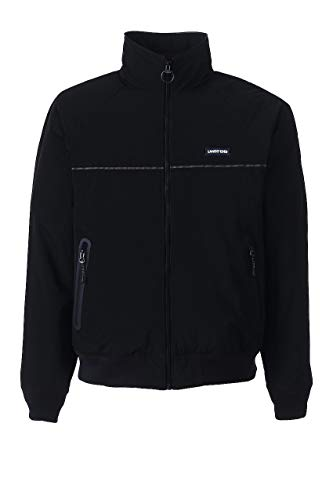 (Lands' End Men's Classic Squall Jacket, XL, Black)