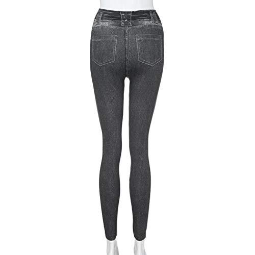 Holywin Jeans Uni Noir Jean Femme wwxFr86