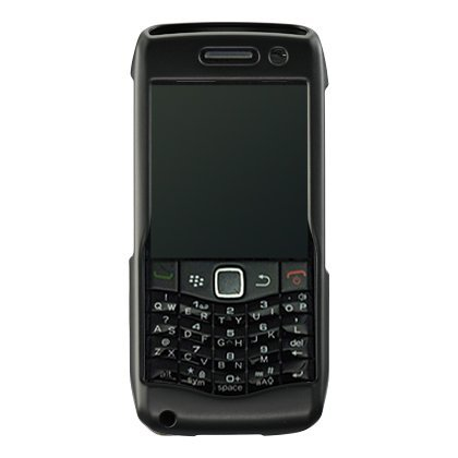 Luxmo CRBB9100BK Unique Durable Rubberized Crystal Case for BlackBerry Pearl 9100 - Retail Packaging - Black