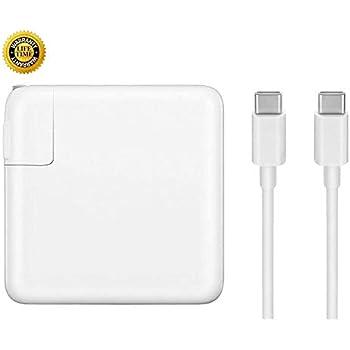 Amazon.com: Cargador de repuesto para MacBook Pro, 61 W USB ...
