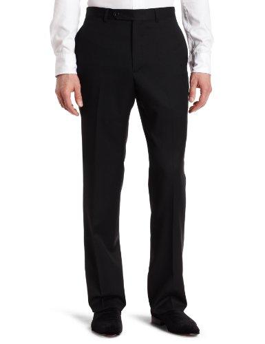 UPC 713161261585, Tommy Hilfiger Men's Flat Front Trim Fit Tuxedo Pant, Black Solid, 33W x 32L