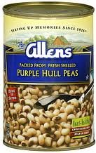 Allen's Shelled Purple Hull Peas 15.5oz Can (Pack of 6)