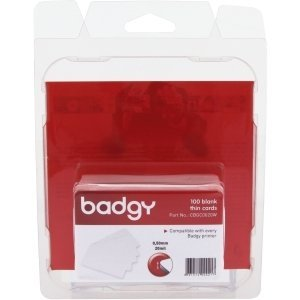 Card Badgy Pvc (Evolis Badgy Thin PVC Plastic Cards - Compatible with all Badgy printers - CBGC0020W)