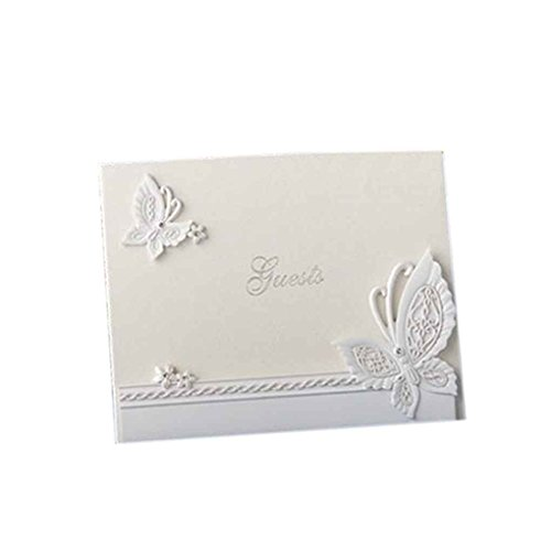 Xuanhemen Wedding Guest Book Linked Hearts Bride Bridegroom Personalized Signing Book Daily Supplies
