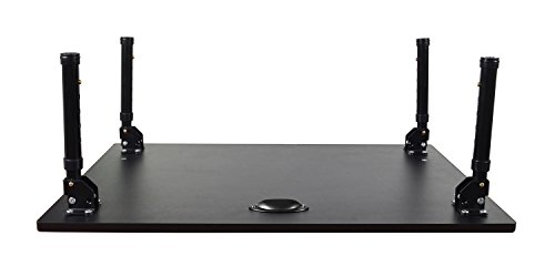 Luxor STAND-SD32F 32'' Desktop Standing Desk with Foldable Legs - Black by Luxor (Image #8)