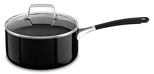 KitchenAid KC2A30PLOB Aluminum Nonstick 3.0 quart Saucepan with Lid – Onyx Black, Medium Review