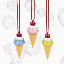 ICE CREAM CONE BUBBLE NECKLACE (1 DOZEN) - BULK by FE (Bubble Cream)