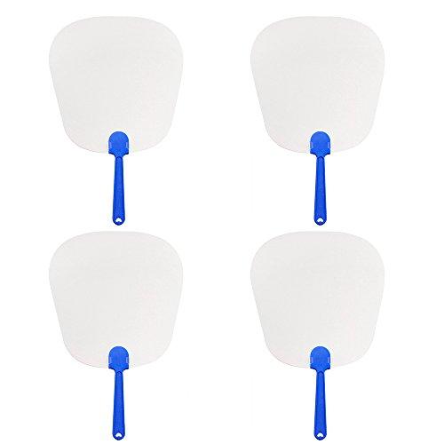 Aspire 60PCS Blank Paper Paddle Fans 8 1/4