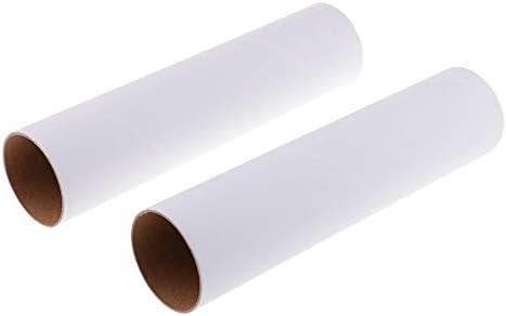 2本入り DIY塗装 子供の描画 絵用 白い紙管 アクリル オイル 耐酸性 クラフト芸術 全3サイズ - 高さ250mm