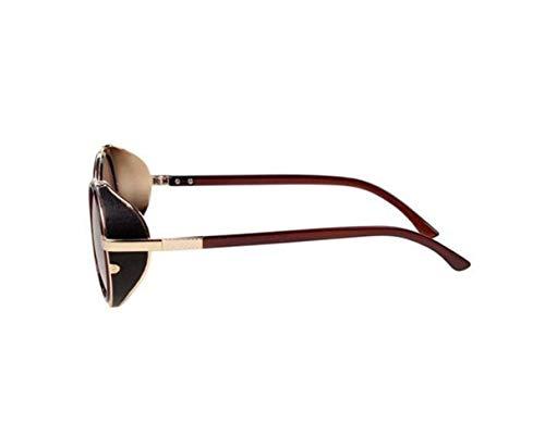 soleil Lunettes plein UV400 soleil lunettes Unisexe protection Frame Golden Lunettes rond Big Cadre de en de conduite air rétro FlowerKui de de qC4xRvIww