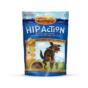 Zuke's Hip Action Natural Dog Treats, Peanut Butter, 1lb ( Multi-Pack)