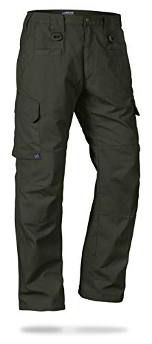 LA Police Gear Men's Operator Tactical Pant with Elastic Waistband Green-38 x ()