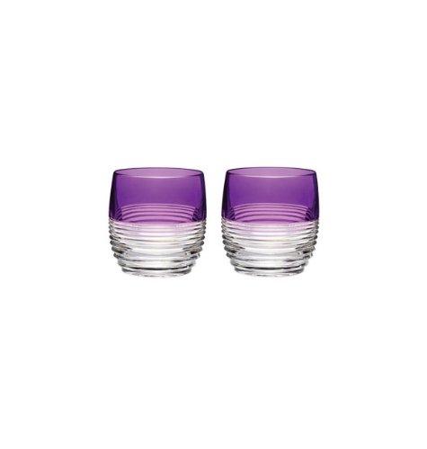 Waterford Crystal Mixology Circon Purple Tumbler, Set of 2