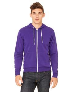 Bella + Canvas Unisex Sponge Fleece Full-Zip Hoodie, Team Purple, X-Large (Best Discount Clothing Websites)