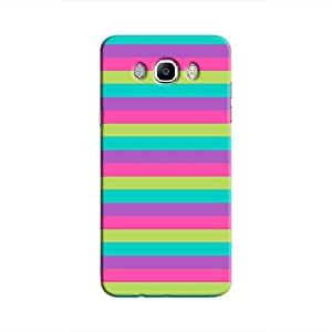 Cover It Up - Pink,Green&Cyan Galaxy J7 2016Hard Case