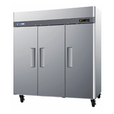 (M3R723 72 cu. ft. Capacity M3 Series Refrigerator with 3 Solid Doors Digital Temperature Control System Hot Gas Condensate System Efficient Refrigeration System and Stainless Steel Cabinet Construction in Stainless)